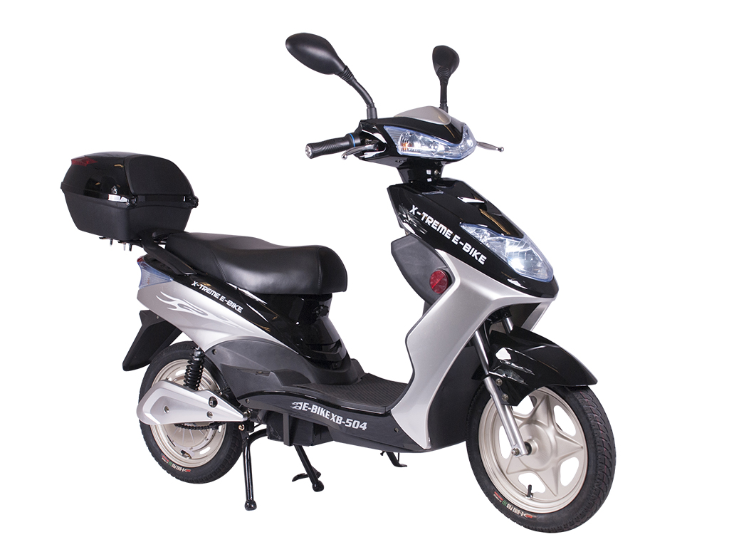 moped electric bicycle pedal assist black