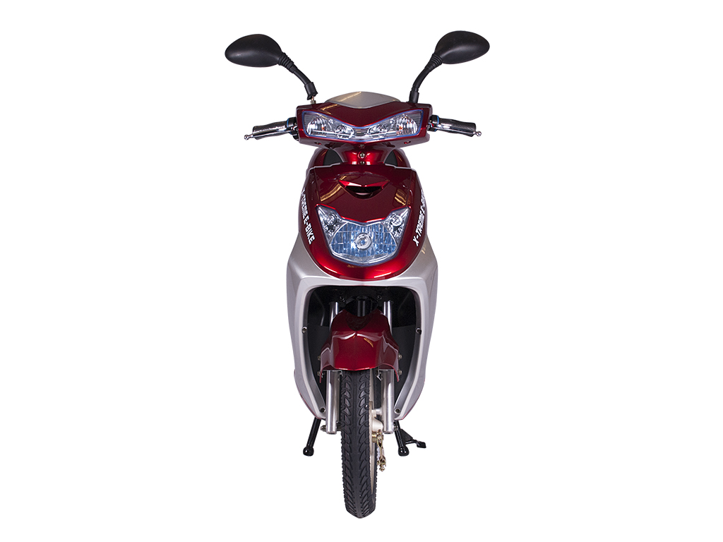fully automatic moped scooter bicycle burgundy red