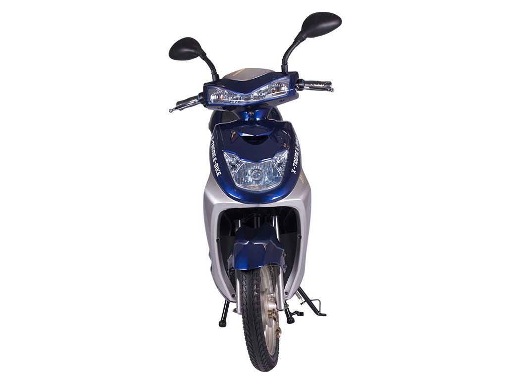 fully automatic moped scooter bicycle blue