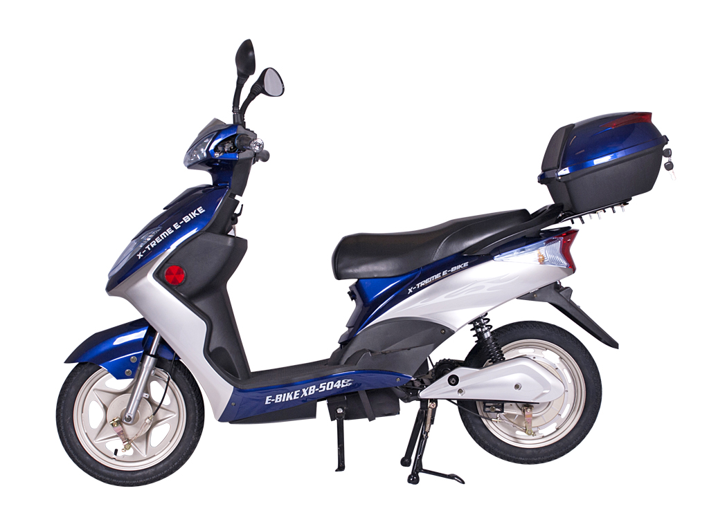 moped scooter electric bicycle e-bike blue