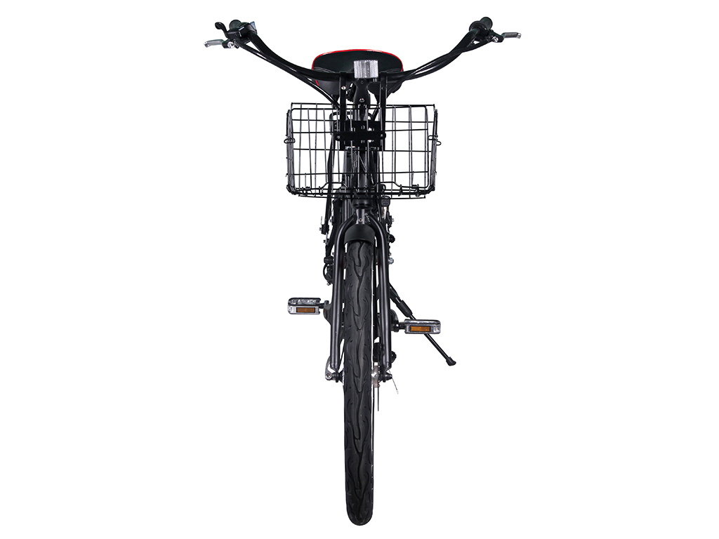 womens step through electric bicycle black