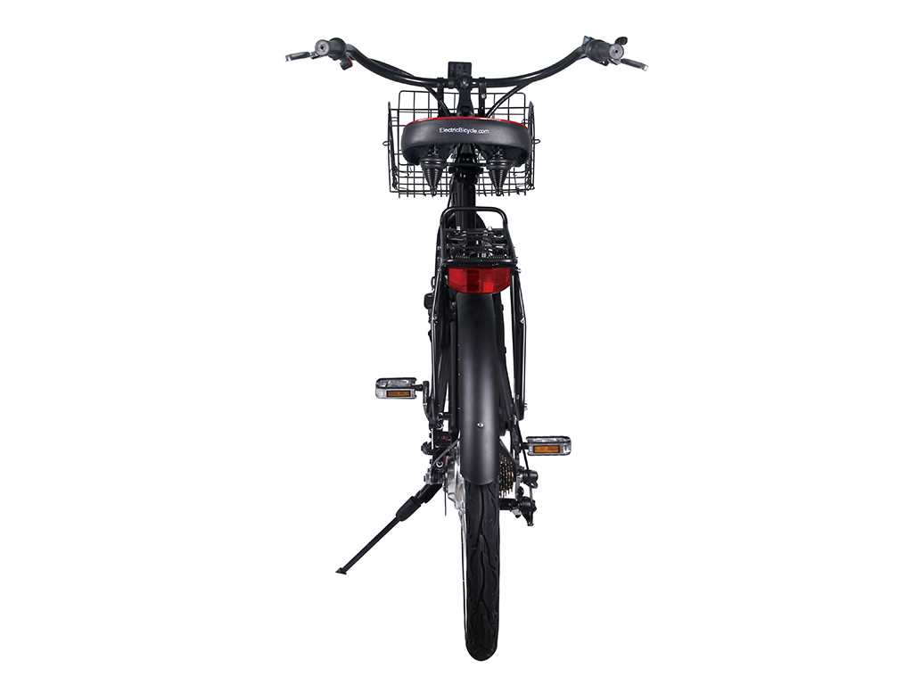 x-treme lithium powered bicycle cruiser black