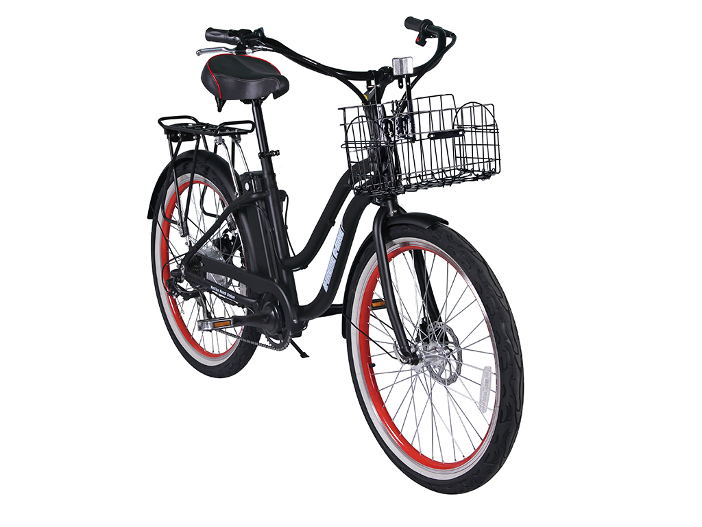 womens electric battery powered bicycle black