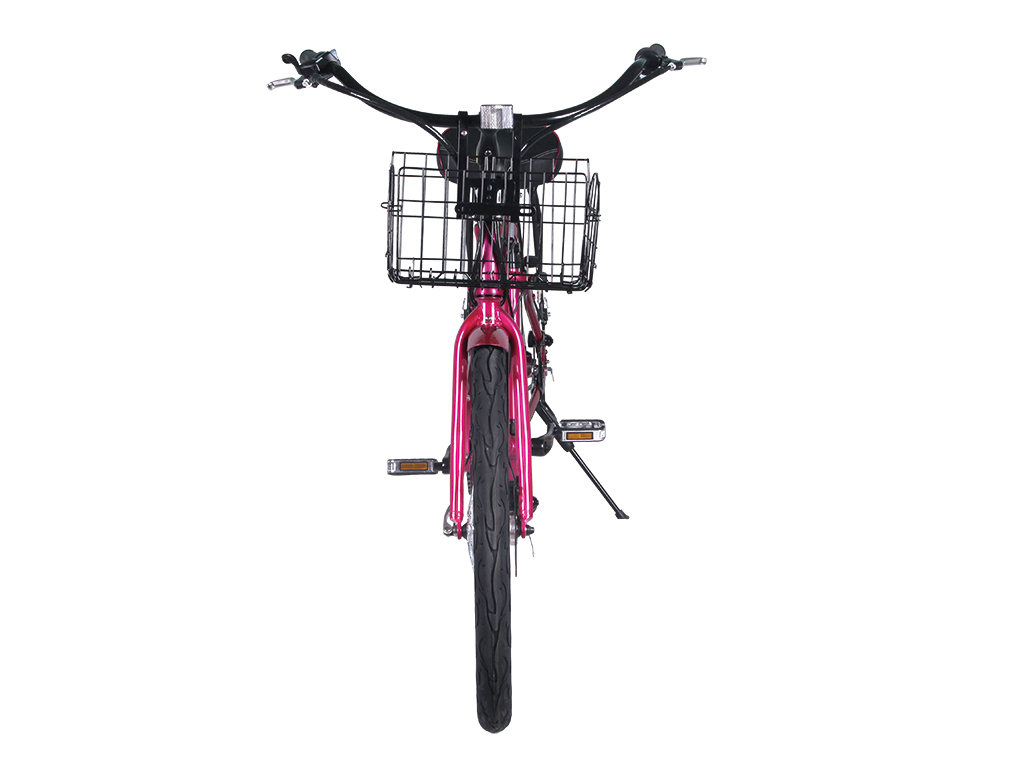 womens step through electric bicycle pink