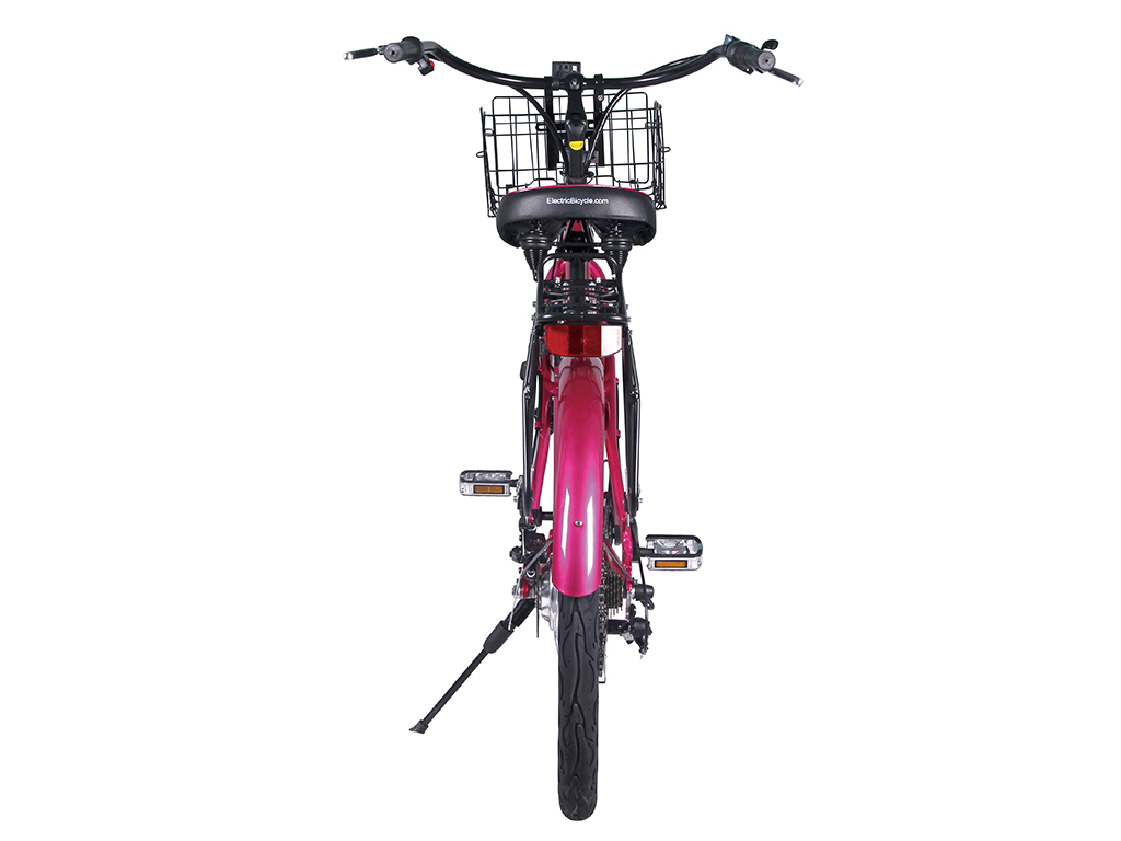 x-treme lithium powered bicycle cruiser pink