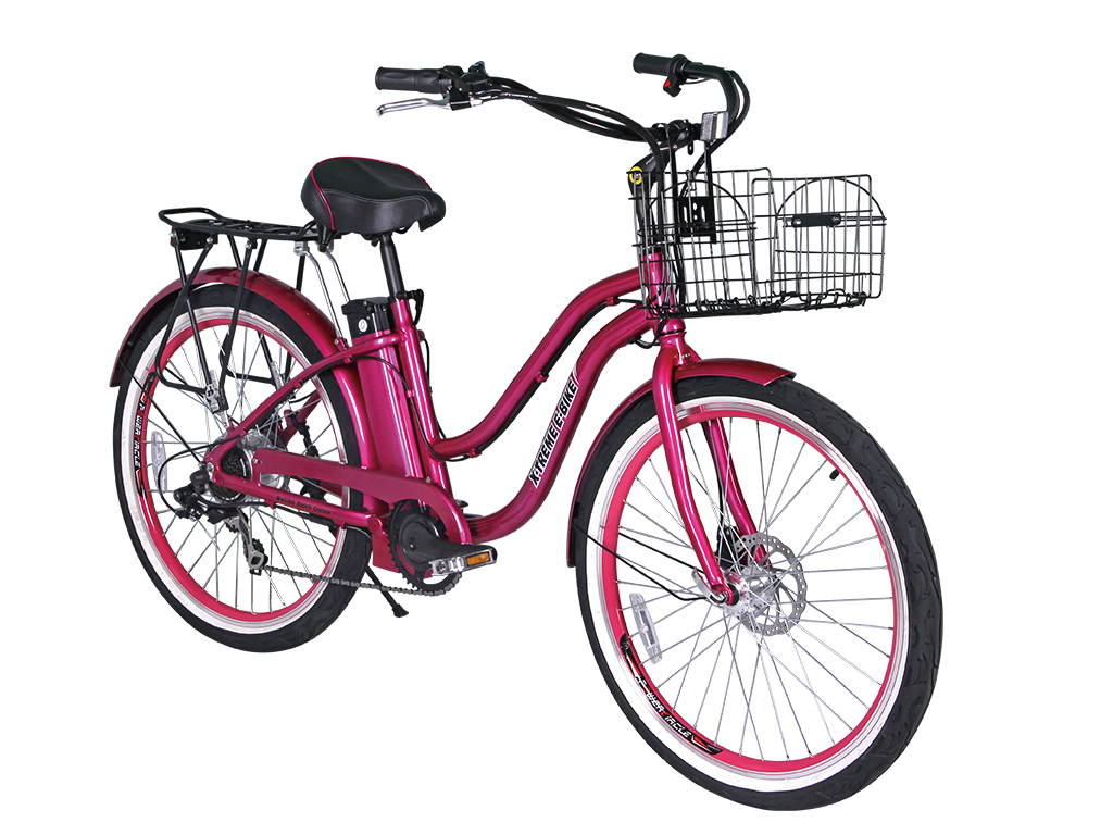 womens electric battery powered bicycle pink