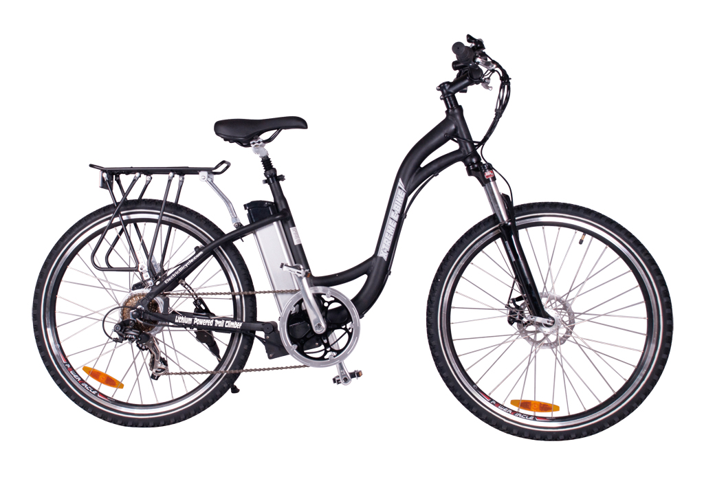 Battery Powered Electric Mountain Bicycle Black