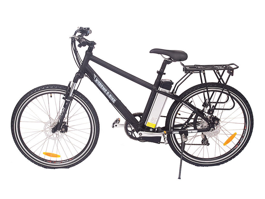 X-Treme Mens Electric Mountain Bike Black