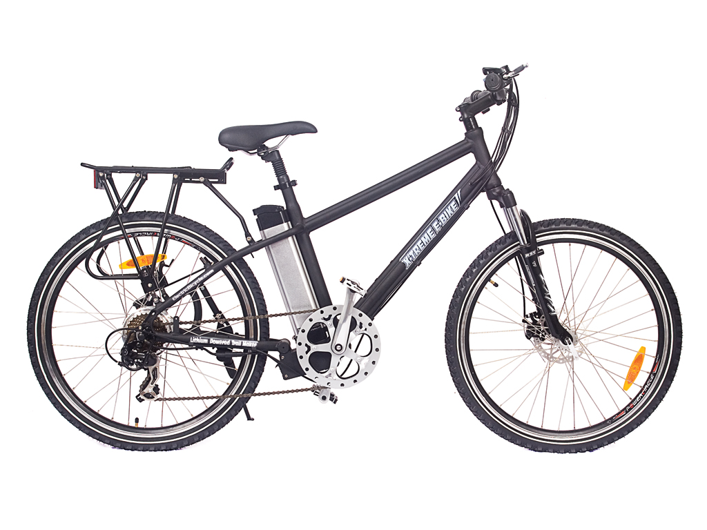 Mountain Bike Battery Powered Motor Black