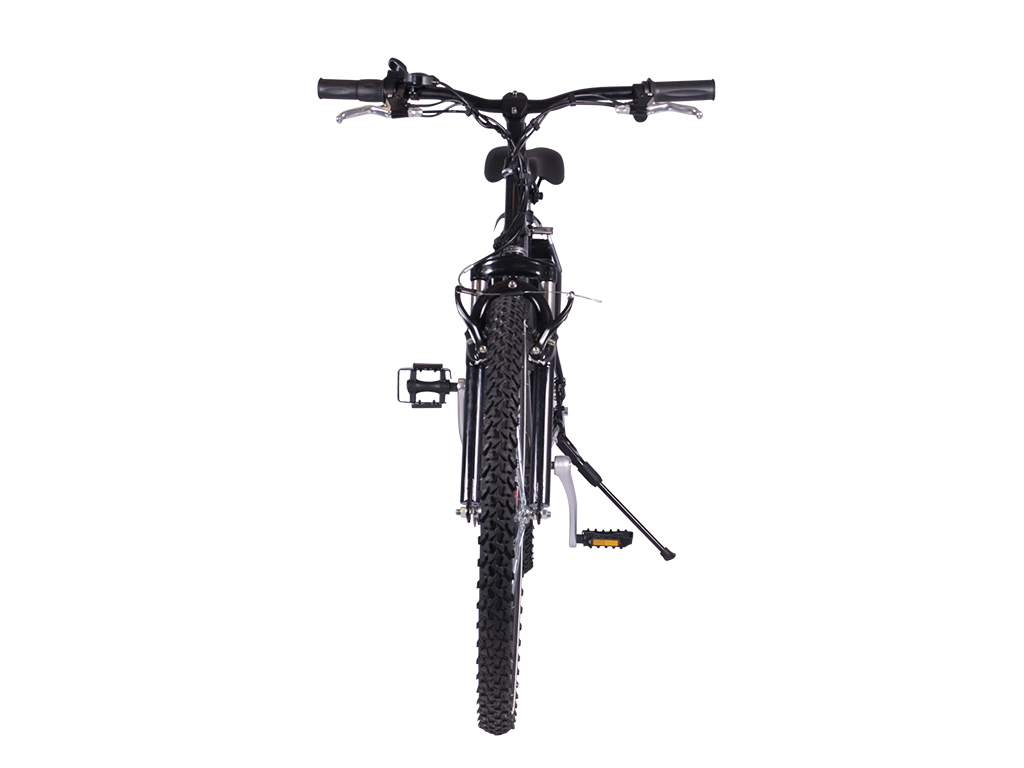 battery power assisted mountain bicycle black