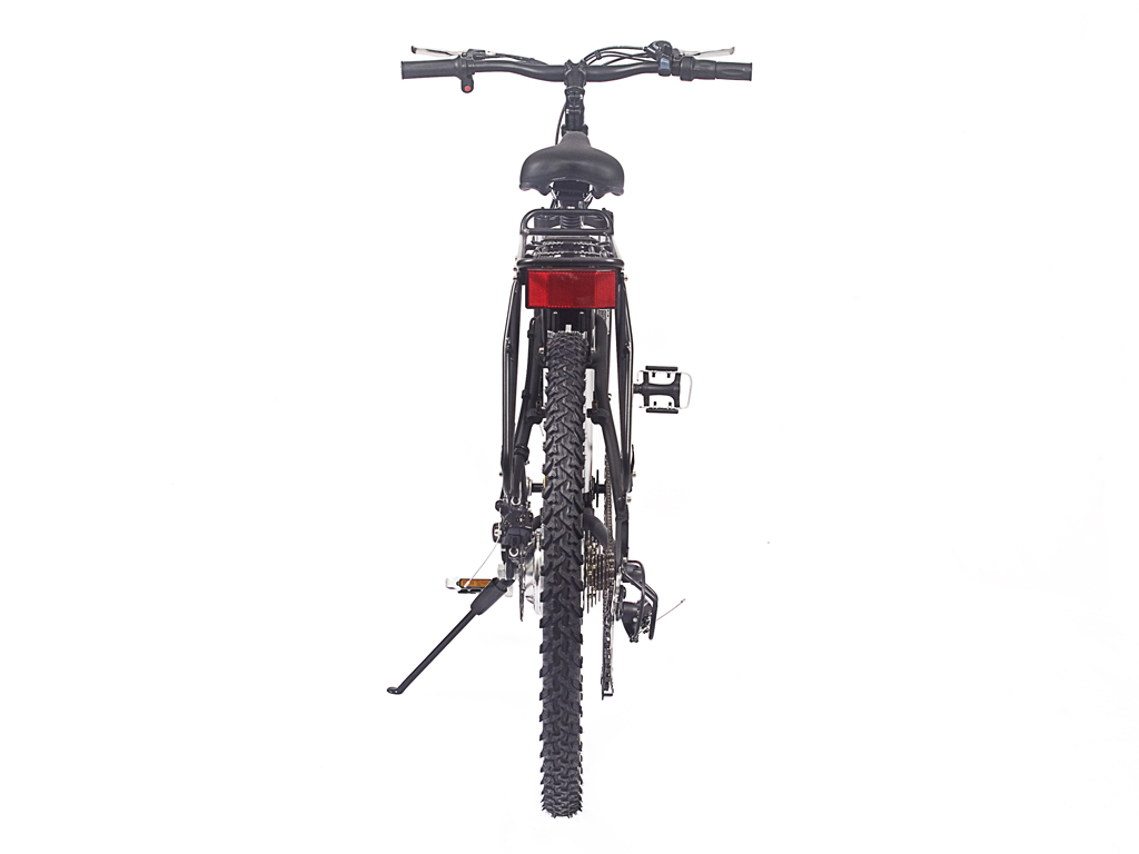 Mens battery powered mountain bicycle black