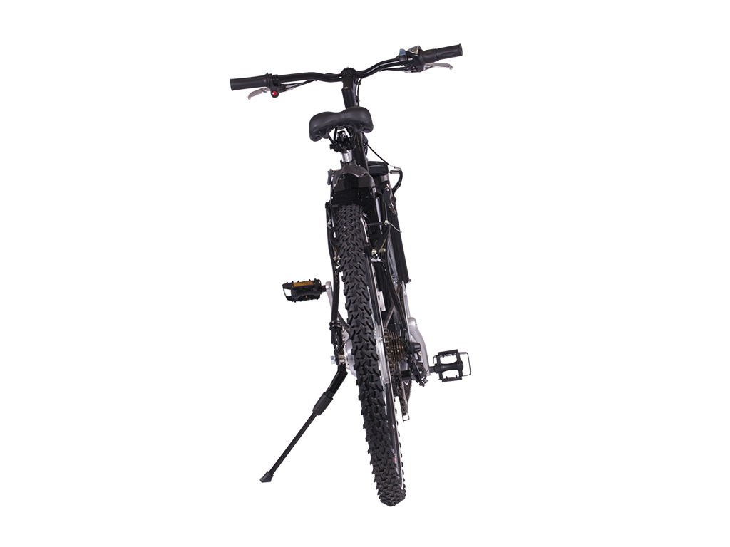 step through mountain bicycle electric black