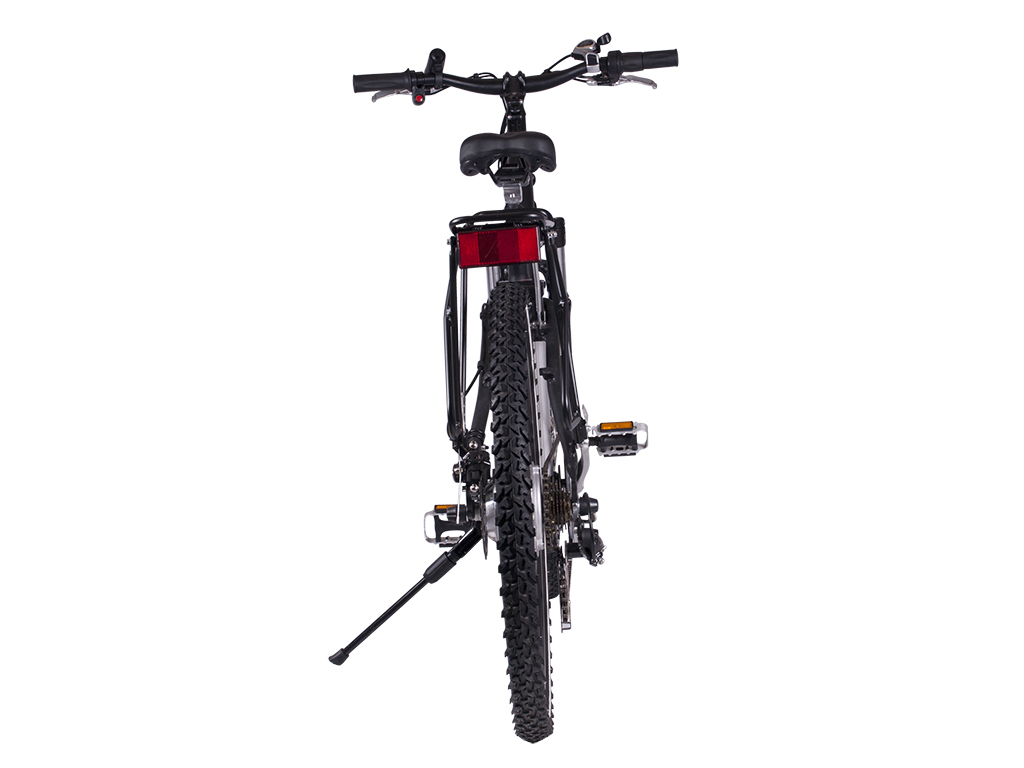 battery powered motor mountain bicycle black